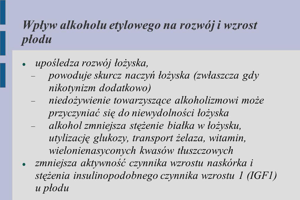 Wpływ alkoholu etylowego na rozwój i wzrost płodu