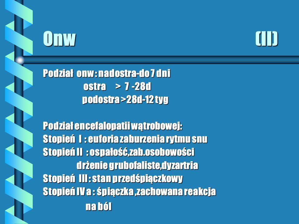 Onw (II) Podział onw : nadostra-do 7 dni ostra > 7 -28d