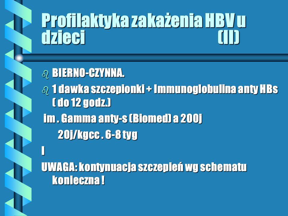 Profilaktyka zakażenia HBV u dzieci (II)
