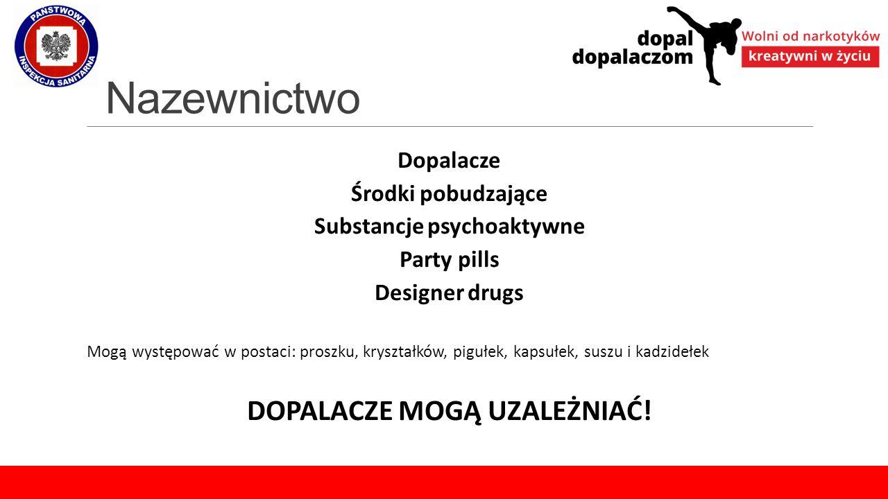 Substancje psychoaktywne DOPALACZE MOGĄ UZALEŻNIAĆ!