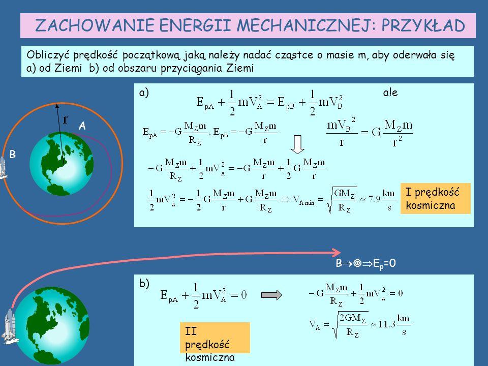 ZACHOWANIE ENERGII MECHANICZNEJ: PRZYKŁAD
