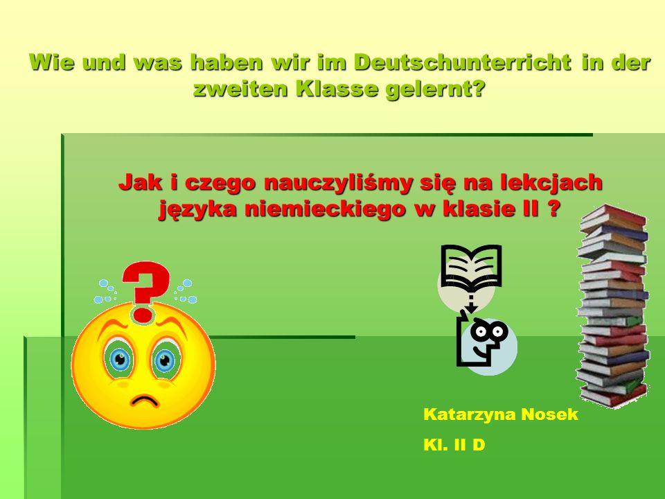 Wie und was haben wir im Deutschunterricht in der zweiten Klasse gelernt