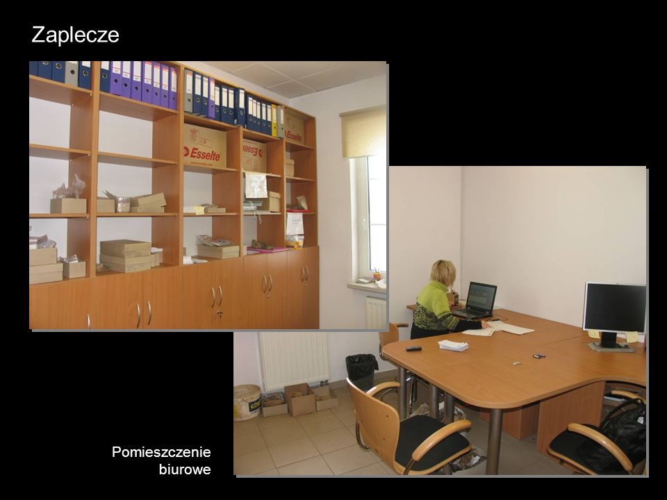 Zaplecze Pomieszczenie biurowe