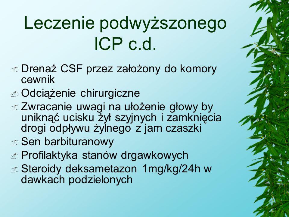 Leczenie podwyższonego ICP c.d.