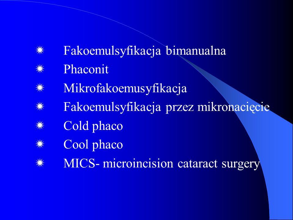  Fakoemulsyfikacja bimanualna