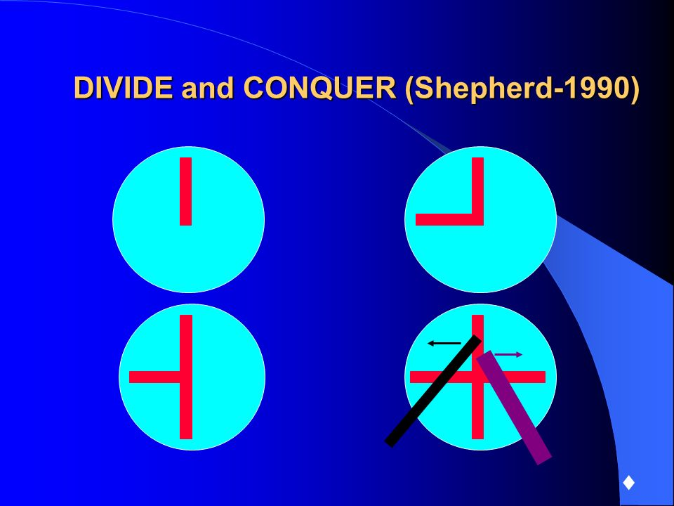 DIVIDE and CONQUER (Shepherd-1990)