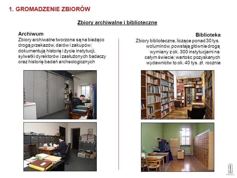 1. GROMADZENIE ZBIORÓW Zbiory archiwalne i biblioteczne Archiwum