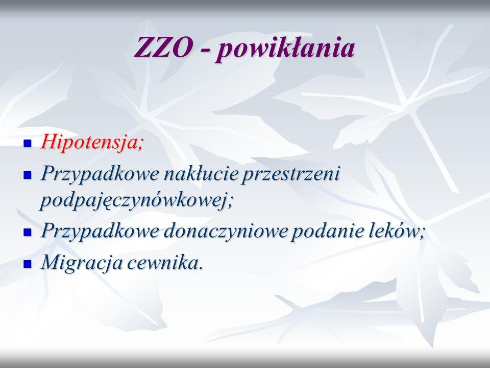 ZZO - powikłania Hipotensja;