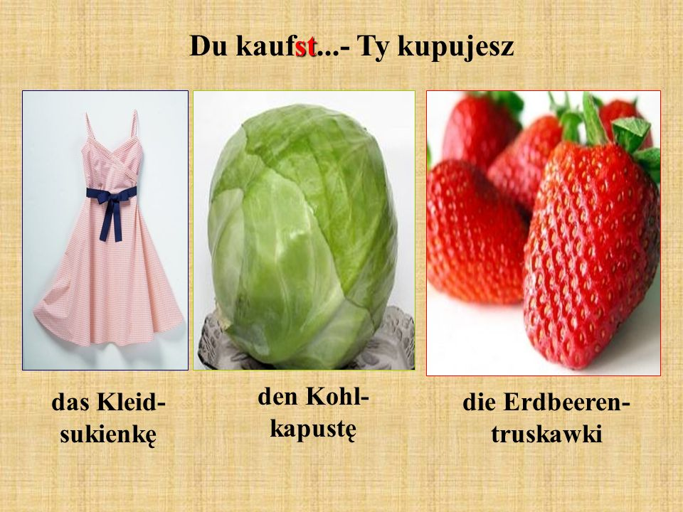 die Erdbeeren- truskawki