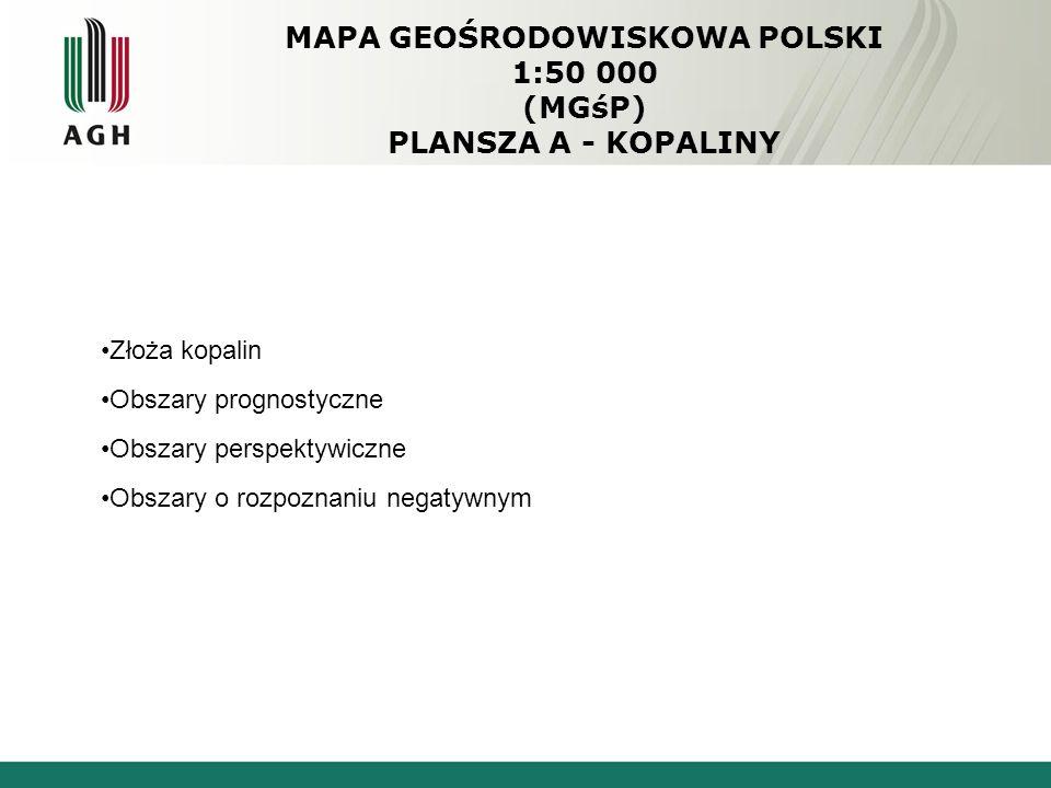 MAPA GEOŚRODOWISKOWA POLSKI 1:50 000 (MGśP) PLANSZA A - KOPALINY