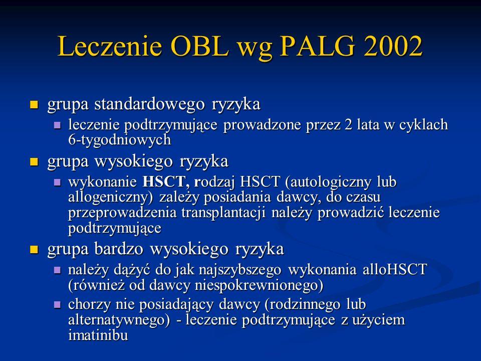 Leczenie OBL wg PALG 2002 grupa standardowego ryzyka