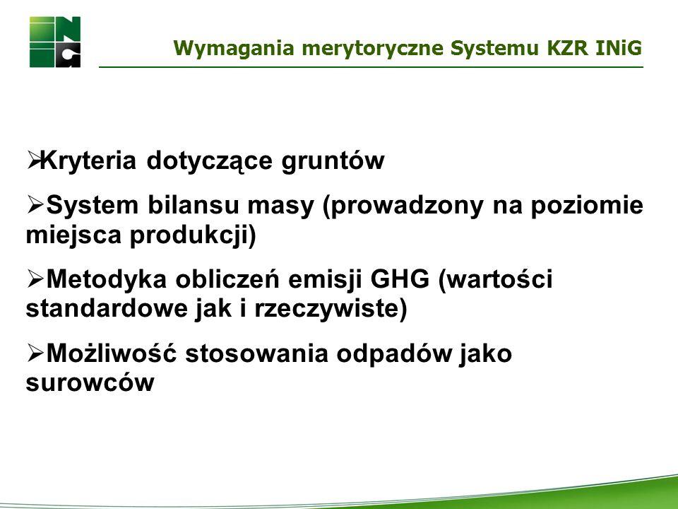 Wymagania merytoryczne Systemu KZR INiG