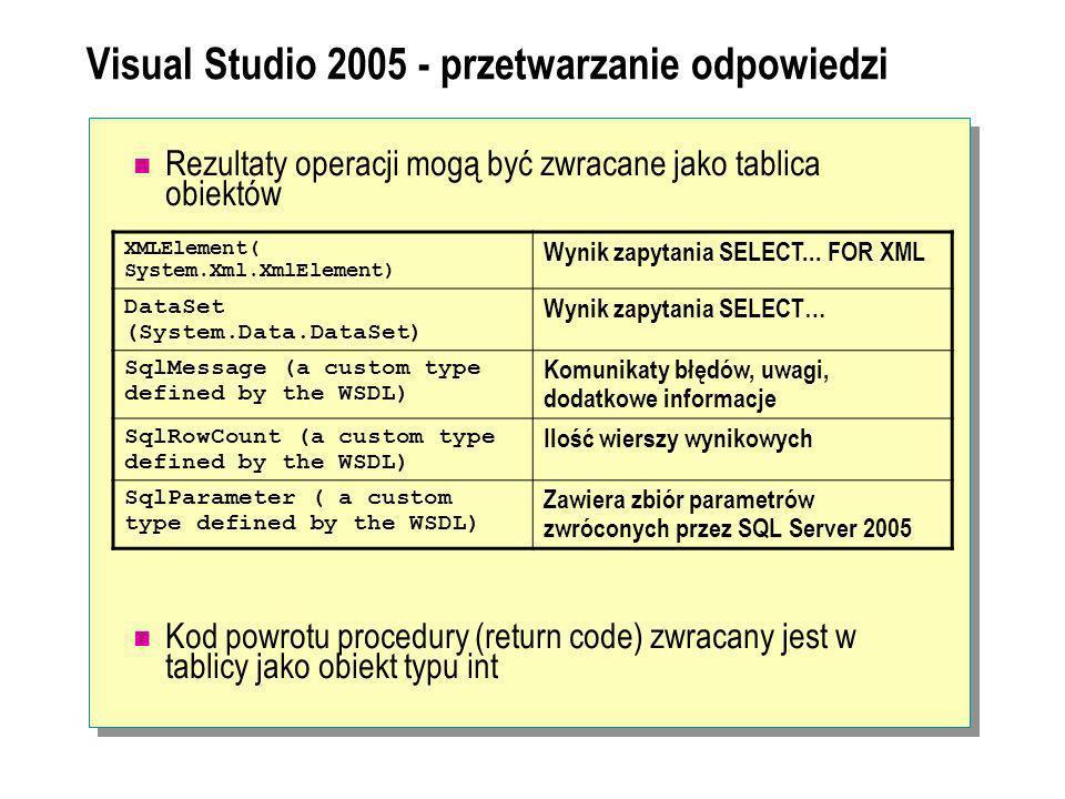 Visual Studio 2005 - przetwarzanie odpowiedzi