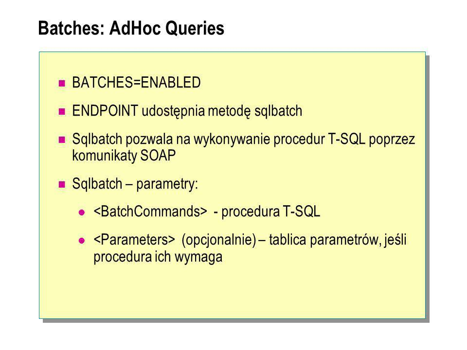Batches: AdHoc Queries