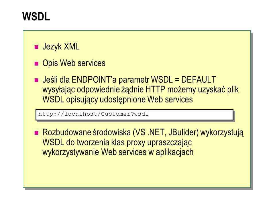 WSDL Jezyk XML Opis Web services