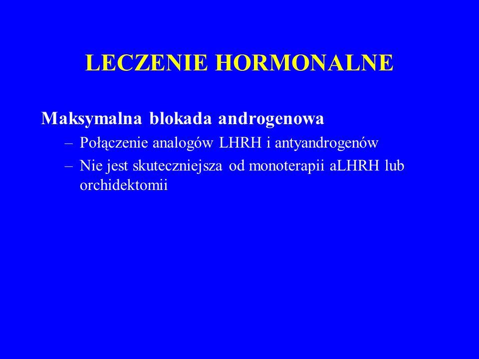 LECZENIE HORMONALNE Maksymalna blokada androgenowa