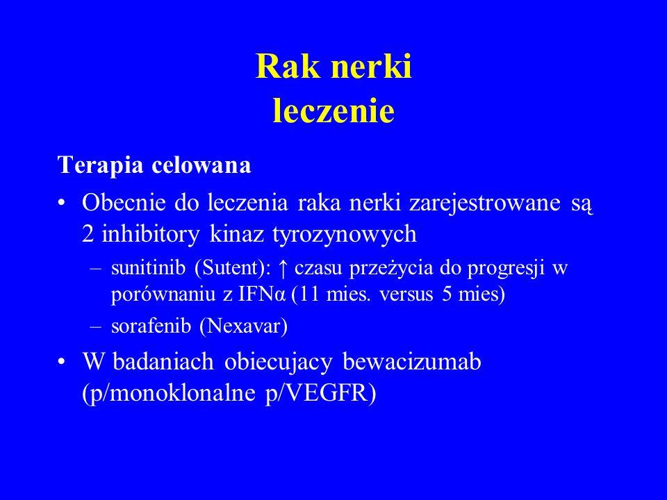 Rak nerki leczenie Terapia celowana