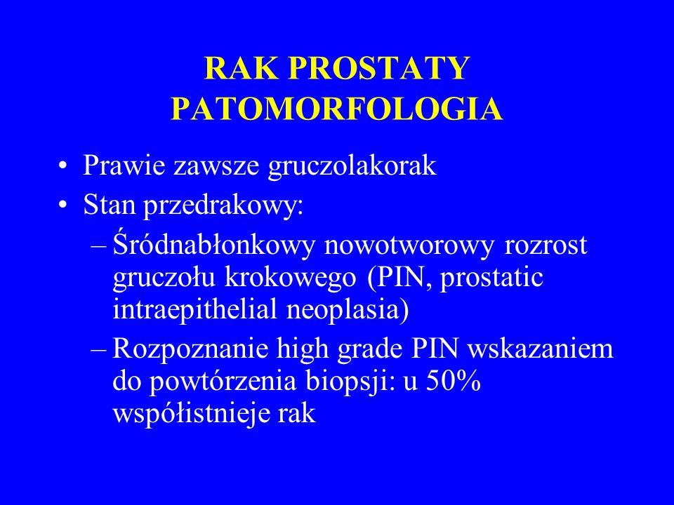 RAK PROSTATY PATOMORFOLOGIA