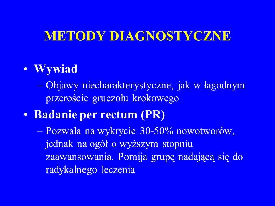 METODY DIAGNOSTYCZNE Wywiad Badanie per rectum (PR)
