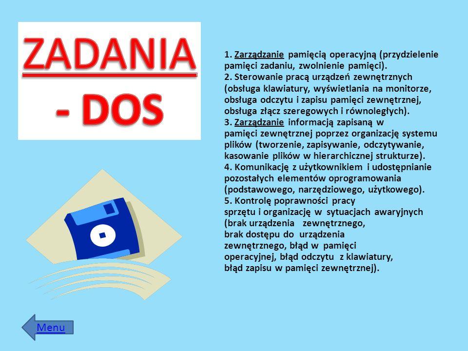 ZADANIA- DOS