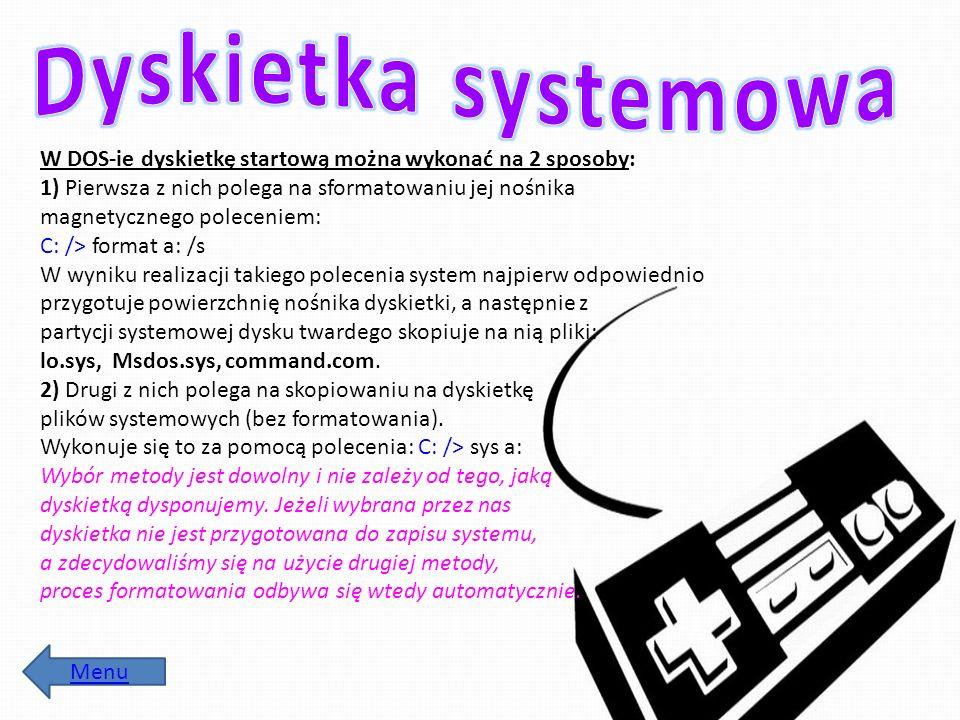Dyskietka systemowa