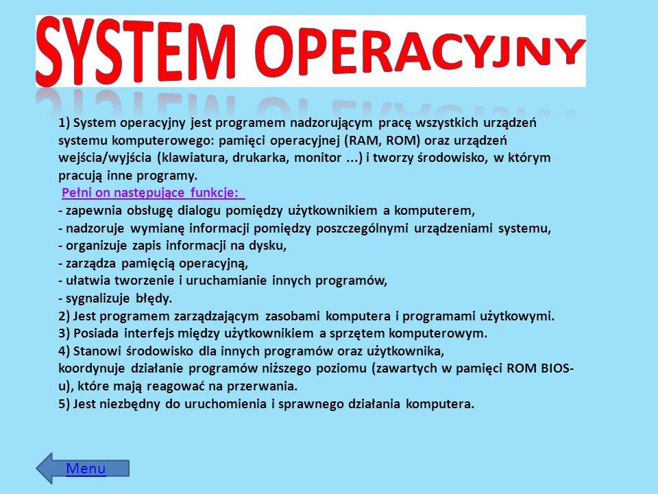 System Operacyjny Menu