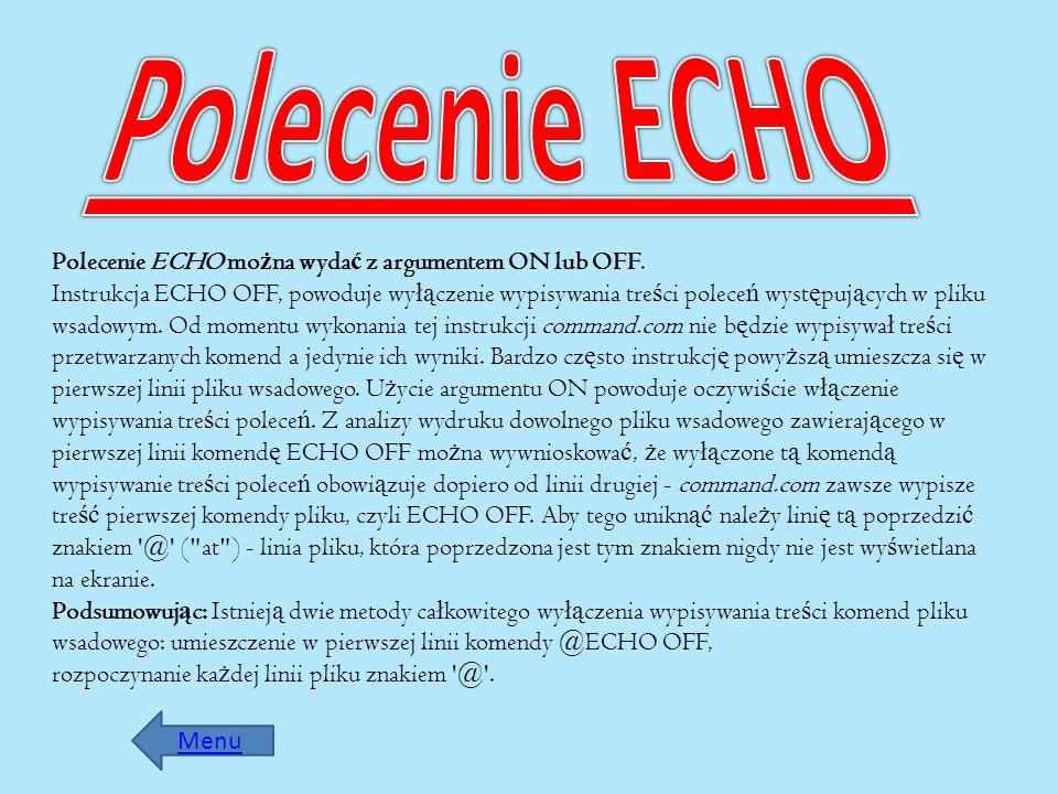 Polecenie ECHO