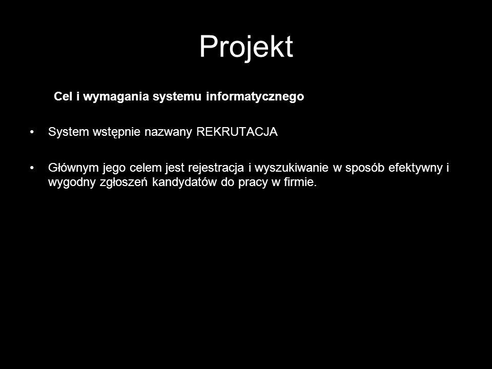 Projekt Cel i wymagania systemu informatycznego