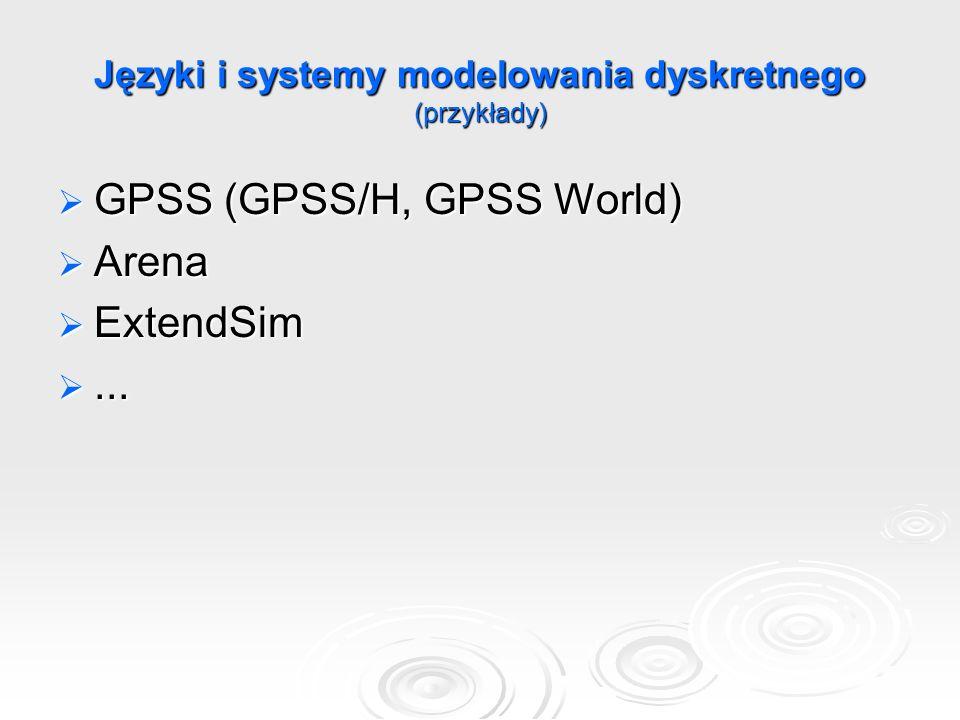 Języki i systemy modelowania dyskretnego (przykłady)