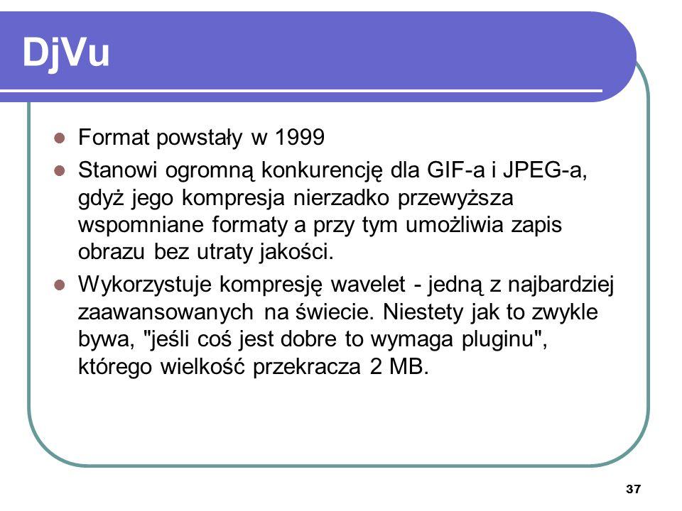 DjVuFormat powstały w 1999.
