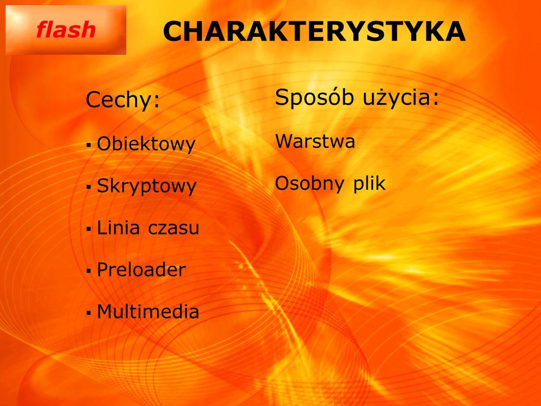 CHARAKTERYSTYKA Sposób użycia: Cechy: Warstwa Obiektowy Osobny plik