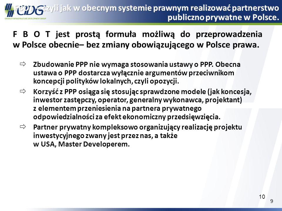 FBOT – czyli jak w obecnym systemie prawnym realizować partnerstwo publiczno prywatne w Polsce.