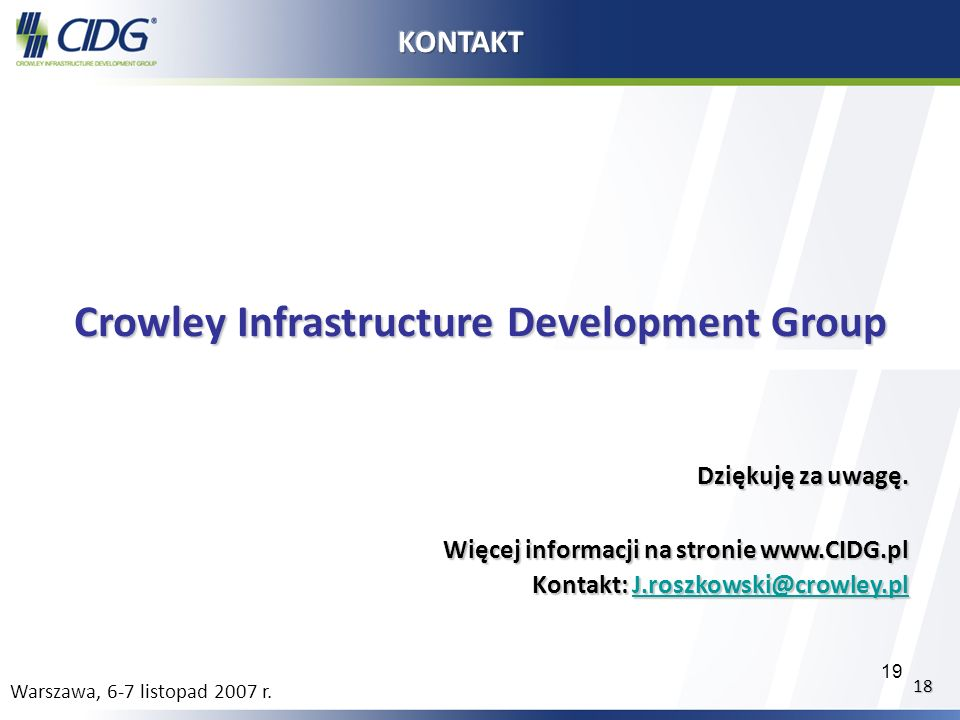 Crowley Infrastructure Development Group