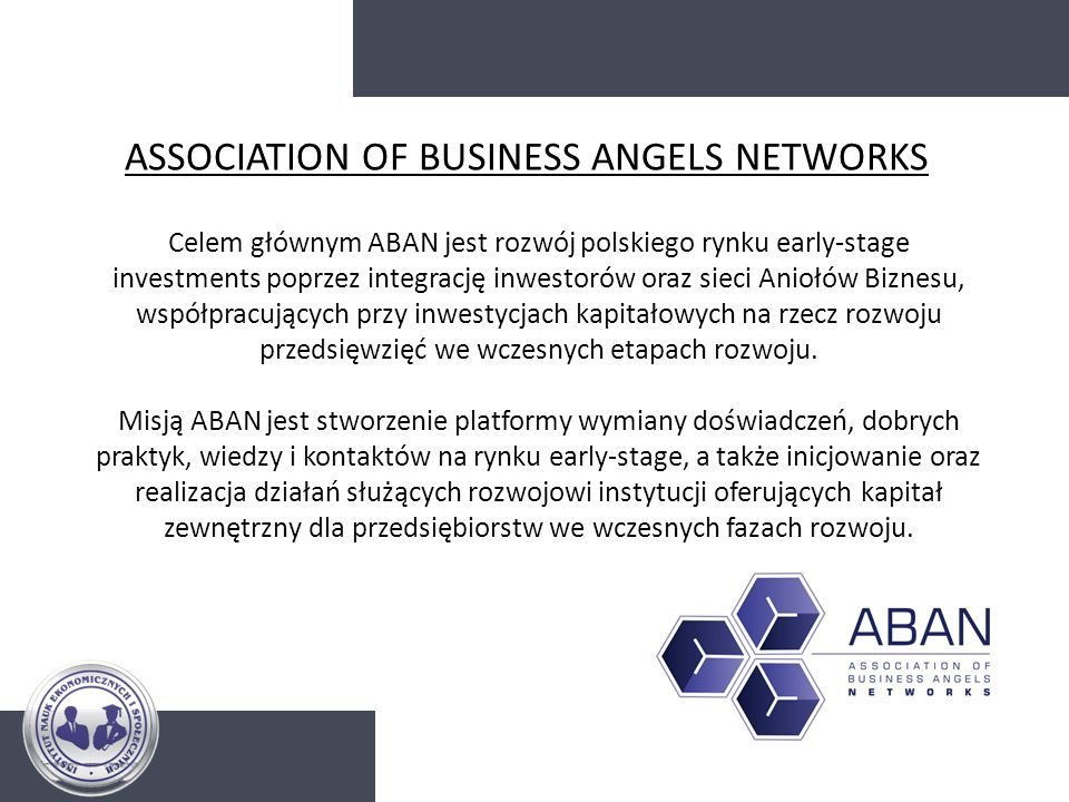 ASSOCIATION OF BUSINESS ANGELS NETWORKS