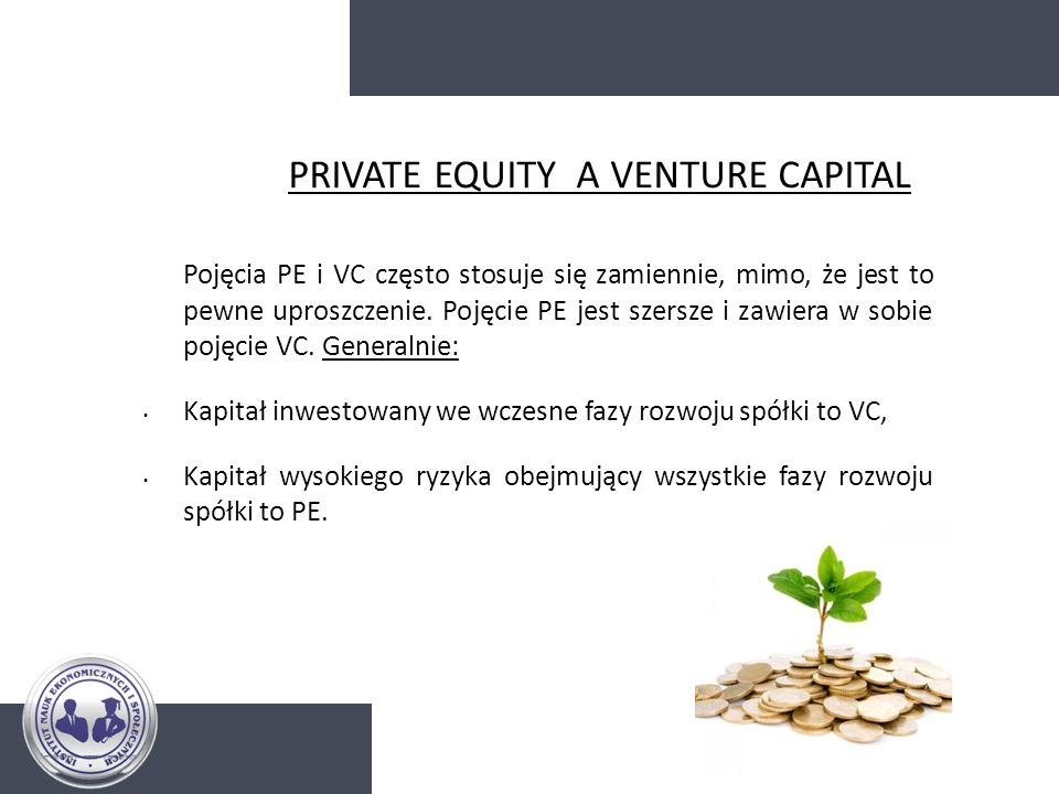 PRIVATE EQUITY A VENTURE CAPITAL