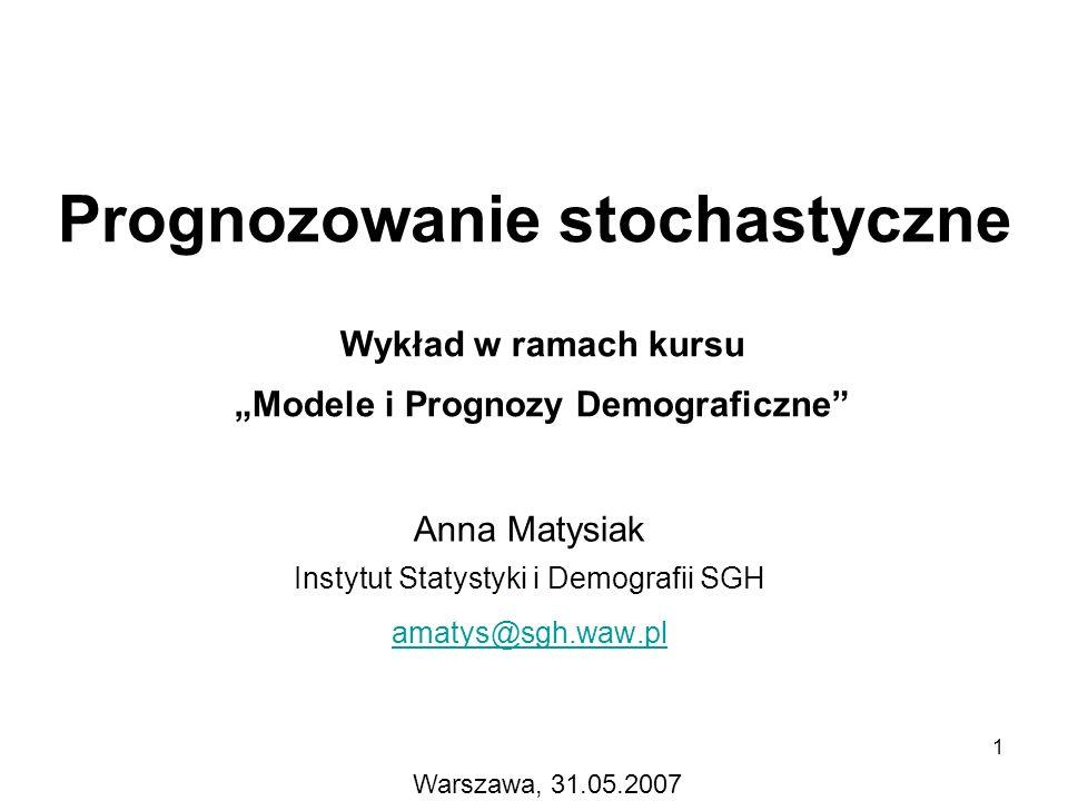 Prognozowanie stochastyczne