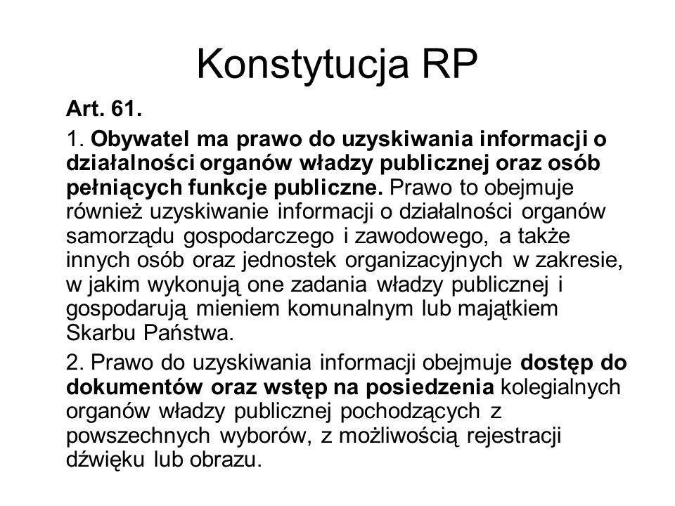Konstytucja RP Art. 61.