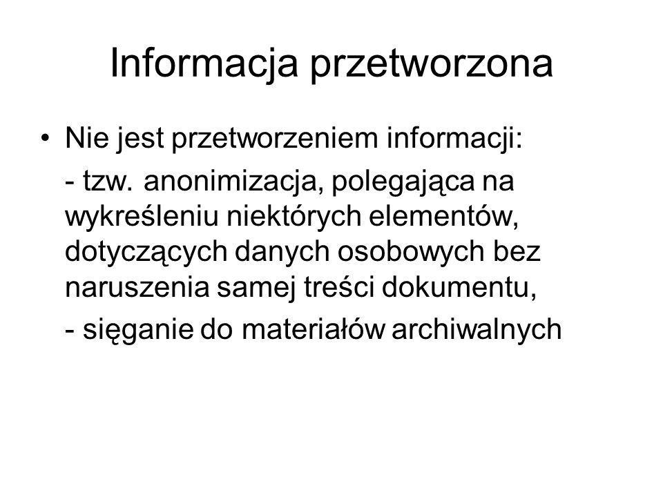 Informacja przetworzona