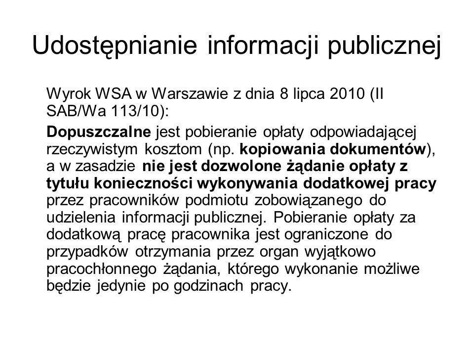 Udostępnianie informacji publicznej