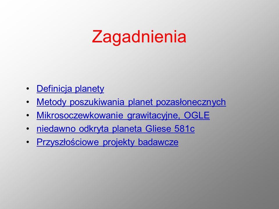 Zagadnienia Definicja planety