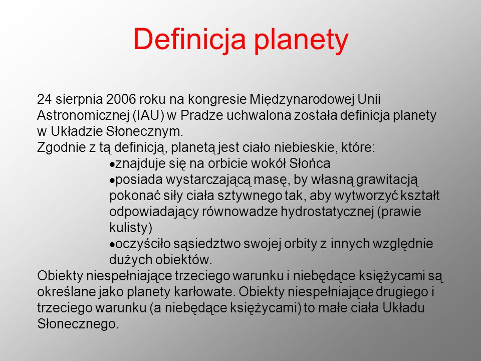 Definicja planety