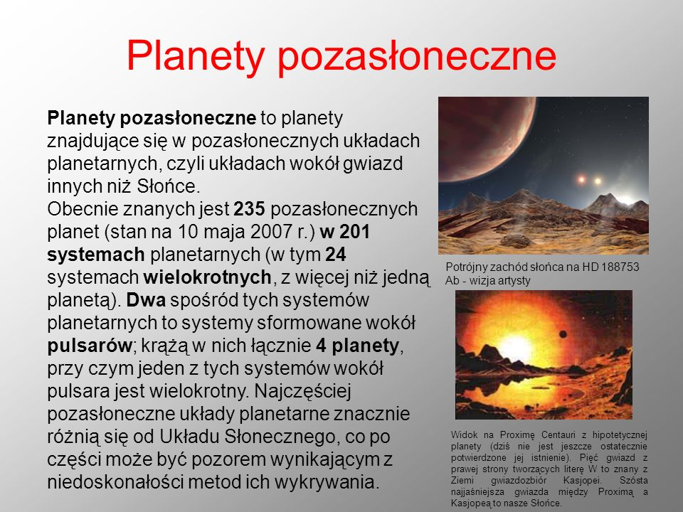 Planety pozasłoneczne