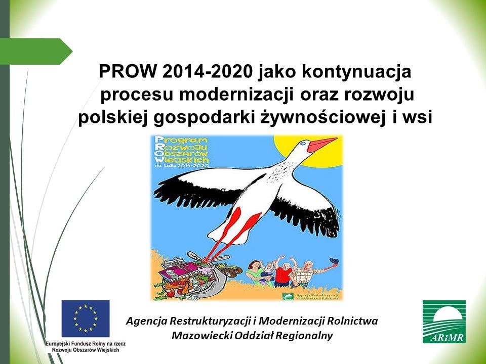PROW 2014-2020 jako kontynuacja procesu modernizacji oraz rozwoju