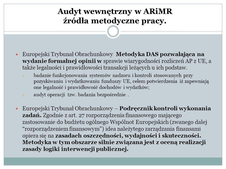 Audyt wewnętrzny w ARiMR źródła metodyczne pracy.