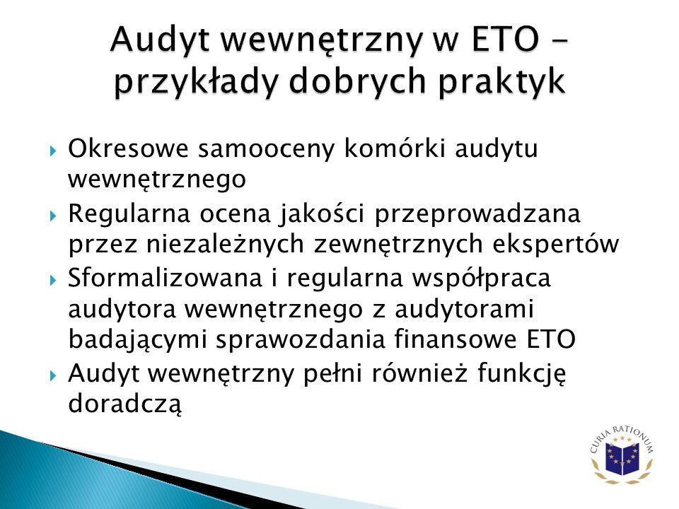 Audyt wewnętrzny w ETO - przykłady dobrych praktyk