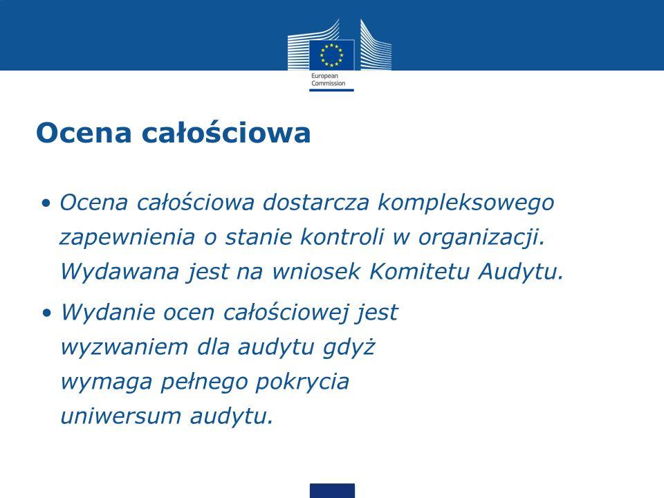 Ocena całościowa Ocena całościowa dostarcza kompleksowego zapewnienia o stanie kontroli w organizacji. Wydawana jest na wniosek Komitetu Audytu.