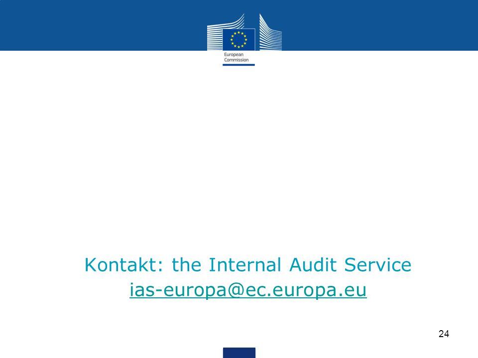 Kontakt: the Internal Audit Service ias-europa@ec.europa.eu