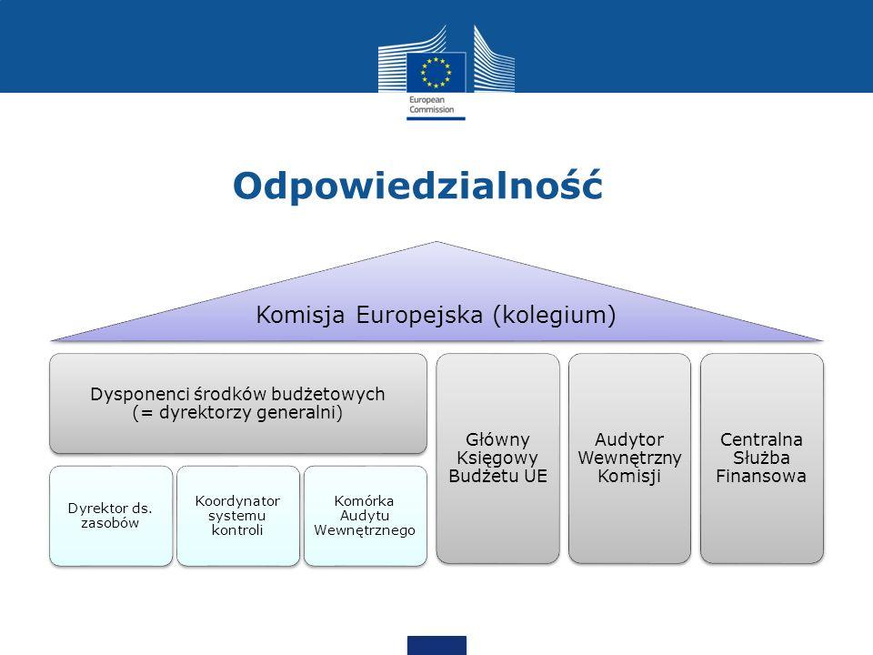 Odpowiedzialność 5 Governance statement of the European Commission