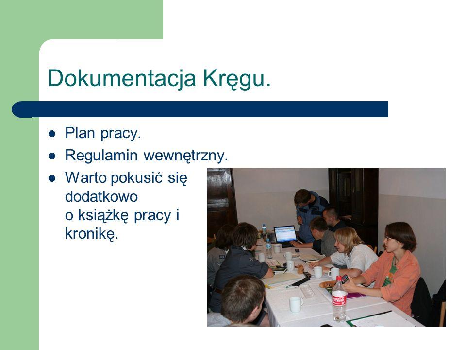 Dokumentacja Kręgu. Plan pracy. Regulamin wewnętrzny.