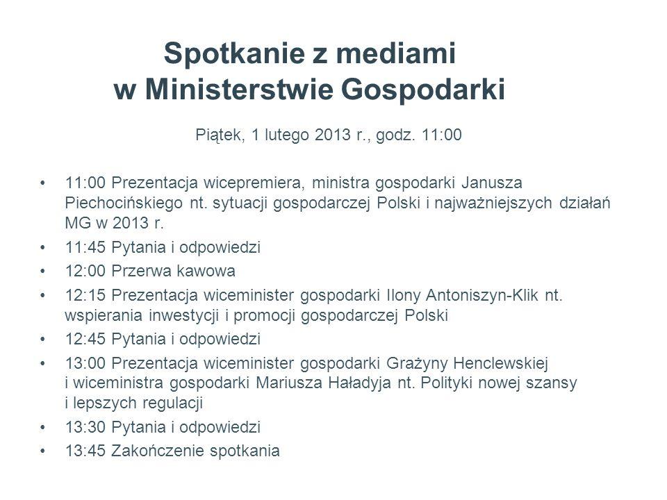 Spotkanie z mediami w Ministerstwie Gospodarki